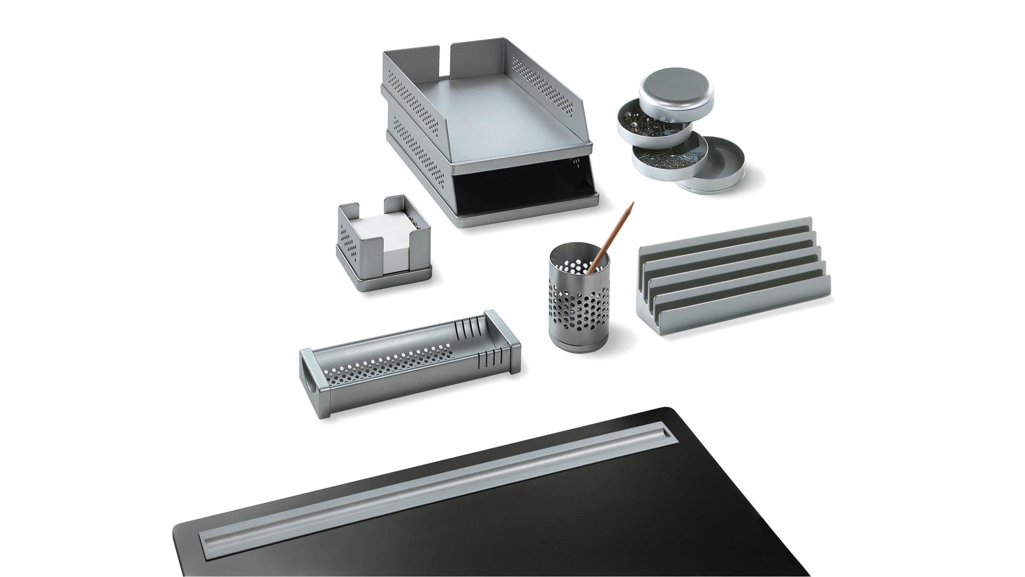 CENTOBUCHI BICCHIERE PORTAMATITE colore alluminio REXITE
